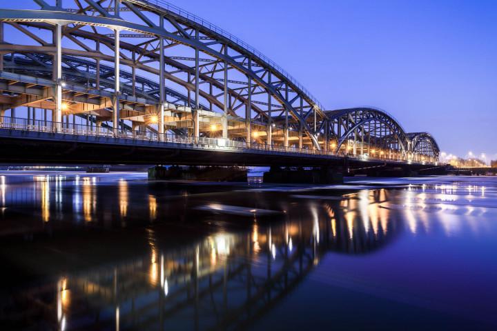 Elbbrücken Hamburg, blaue Stunde #1 | Kai-Uwe Klauss Architecturephotography