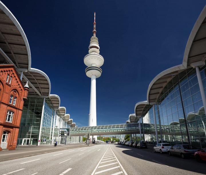 Heinrich-Hertz-Turm und Messehallen Hamburg #2 | Kai-Uwe Klauss Photography