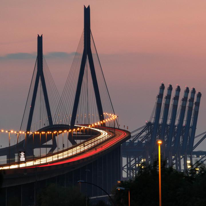 Köhlbrandbrücke, Hamburger Hafen #1 | Kai-Uwe Klauss Photography