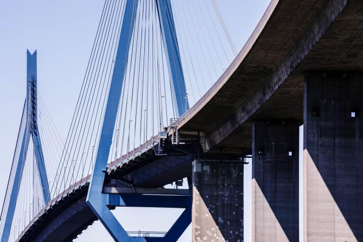 Köhlbrandbrücke Hamburg #5 | Kai-Uwe Klauss Architecturephotography