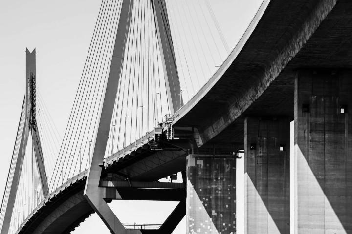 Köhlbrandbrücke Hamburg #6 | Kai-Uwe Klauss Architecturephotography
