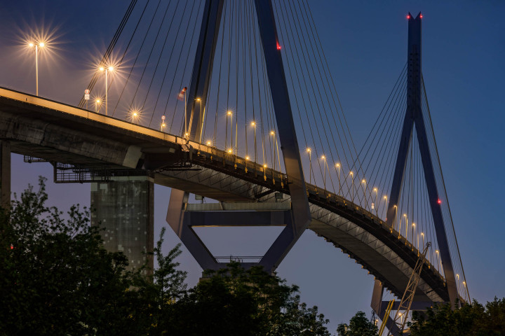 Köhlbrandbrücke Hamburg #3 | Kai-Uwe Klauss Architecturephotography