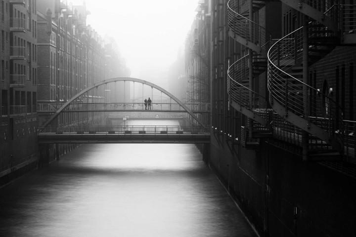 Kehrwiederfleet im Nebel #4 | Kai-Uwe Klauss Architecturephotography