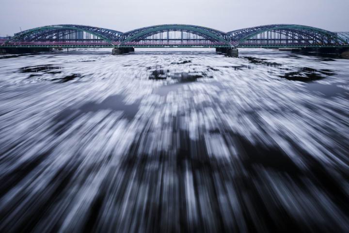Elbbrücken Hamburg bei Eisgang #2 | Kai-Uwe Klauss Architecturephotography