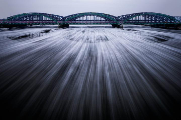 Elbbrücken Hamburg bei Eisgang #1 | Kai-Uwe Klauss Architecturephotography