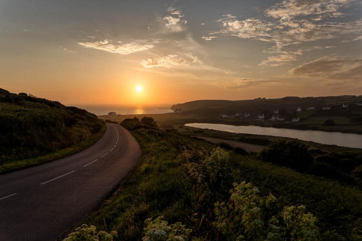 Straße, Küste, Sonnenuntergang | Kai-Uwe Klauss Photography