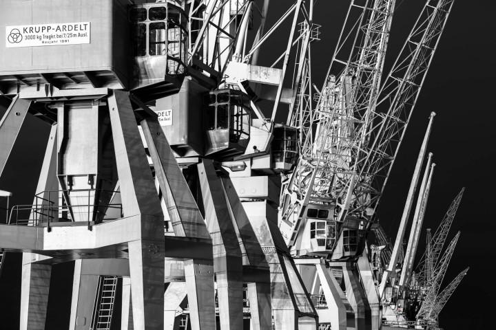 Portalkrane, Hamburger Hafen #4 | Kai-Uwe Klauss Photography