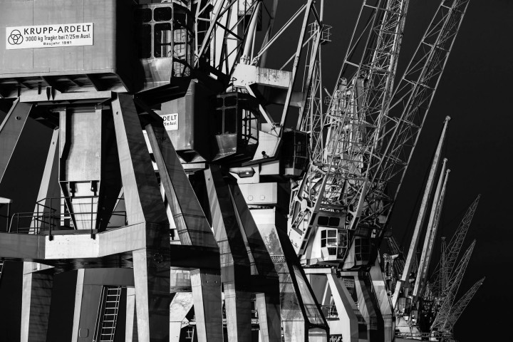 Portalkrane, Hamburger Hafen #5 | Kai-Uwe Klauss Photography