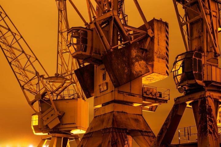 Portalkrane, Hamburger Hafen #6 | Kai-Uwe Klauss Photography