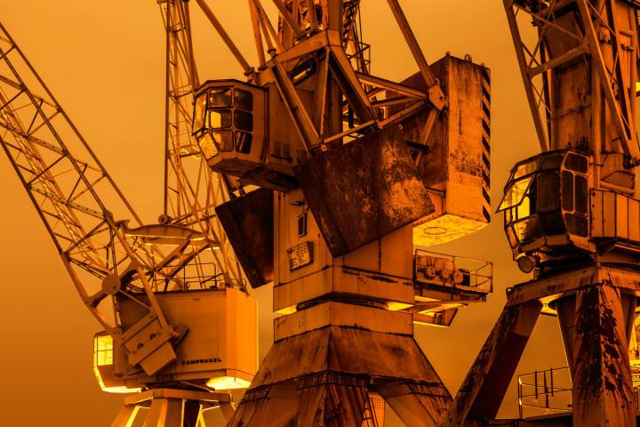 Portalkrane, Hamburger Hafen #8 | Kai-Uwe Klauss Photography
