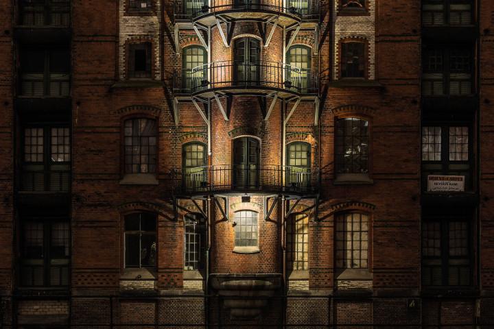 Speicherstadt-Fassade #3 | Kai-Uwe Klauss Architecturephotography