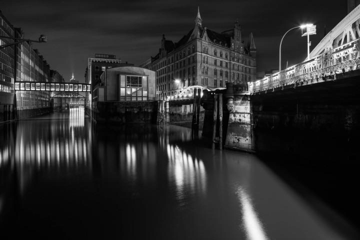 Nachts in der Speicherstadt Hamburg | Kai-Uwe Klauss Photography