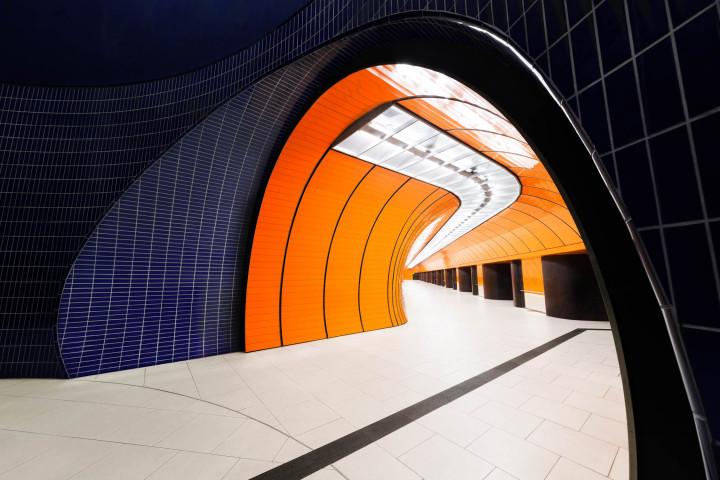 U-Bahn Marienplatz, München #1 | Kai-Uwe Klauss Architecture Photography